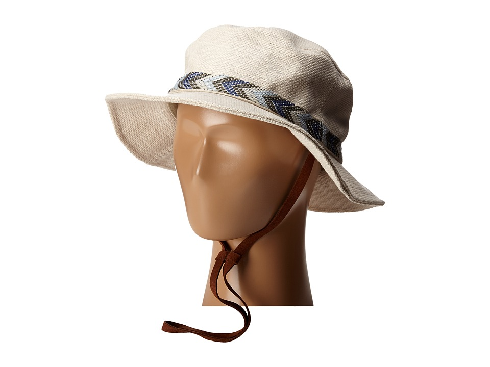 San Diego Hat Company - CTH8023 Canvas Bucket Hat with Jacquard Trim (Beige) Bucket Caps