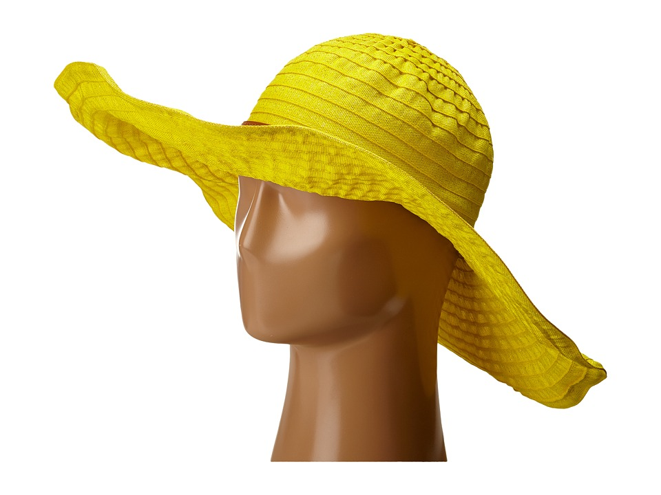 San Diego Hat Company - RBXL291 6 Inch Brim Gold Shimmer Ribbon Hat with Wired Sun Brim (Yellow) Caps