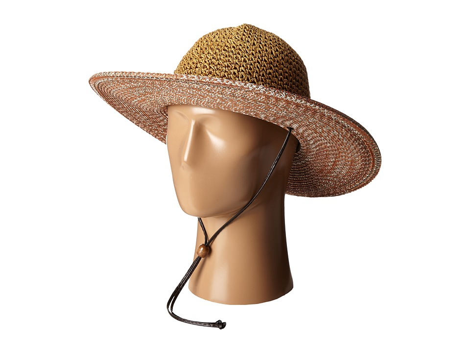 San Diego Hat Company - UBL6483 4 Inch Brim Sun Hat with Adjustable Chin Cord (Rust) Caps