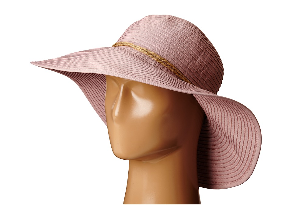 San Diego Hat Company - RBL4785 Large Ribbon Brim Hat with Twince Knot Trim (Blush) Caps