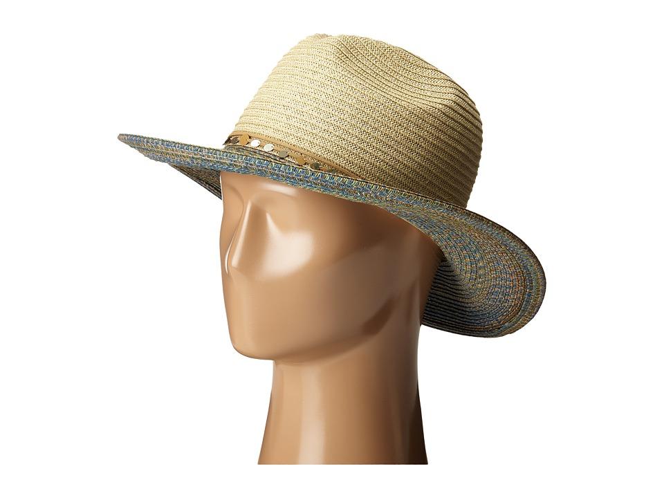 San Diego Hat Company - UBM4450 Panama Sun Hat with Sequin Trim (Natural) Caps