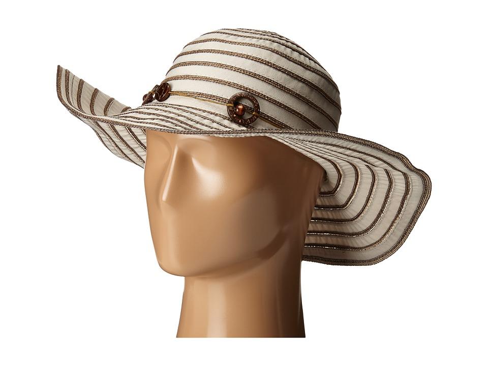 San Diego Hat Company - RBM5558 Ribbon Sun Brim Hat (Grey) Caps