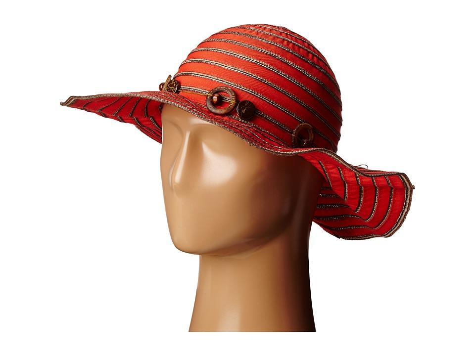 San Diego Hat Company - RBM5558 Ribbon Sun Brim Hat (Cayenne) Caps