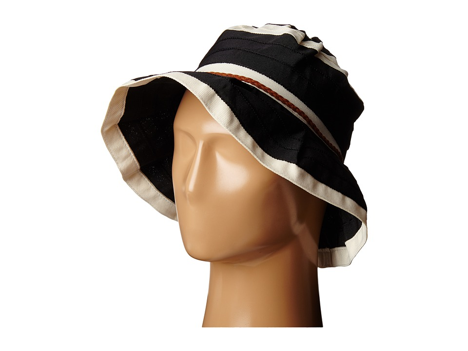 San Diego Hat Company - RBM5560 4 Inch Brim Sun Hat with Faux Suede Braided Trim (Black) Caps