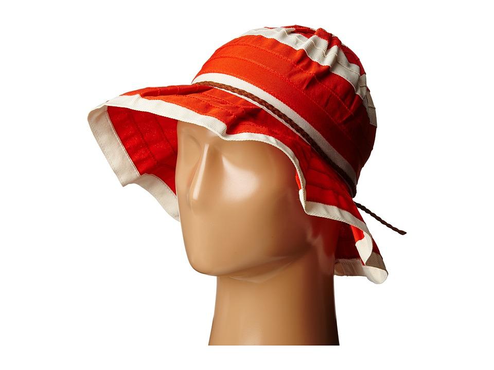 San Diego Hat Company - RBM5560 4 Inch Brim Sun Hat with Faux Suede Braided Trim (Cayenne) Caps