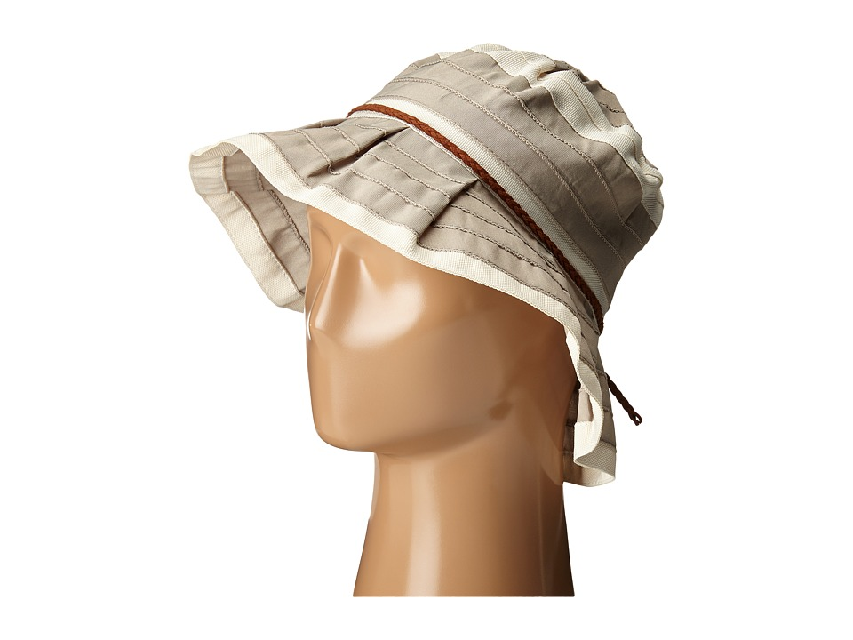 San Diego Hat Company - RBM5560 4 Inch Brim Sun Hat with Faux Suede Braided Trim (Grey) Caps