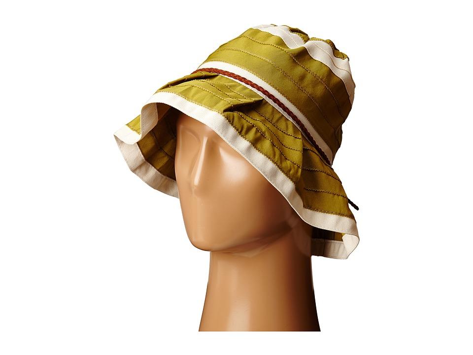 San Diego Hat Company - RBM5560 4 Inch Brim Sun Hat with Faux Suede Braided Trim (Olive) Caps
