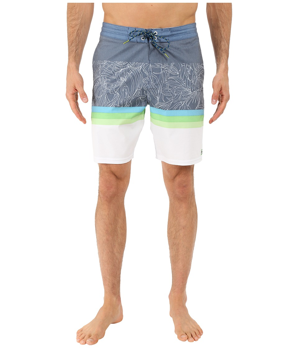 Billabong - Spinner Tropics Lo Tides 19 Boardshorts (Indigo) Men's Swimwear