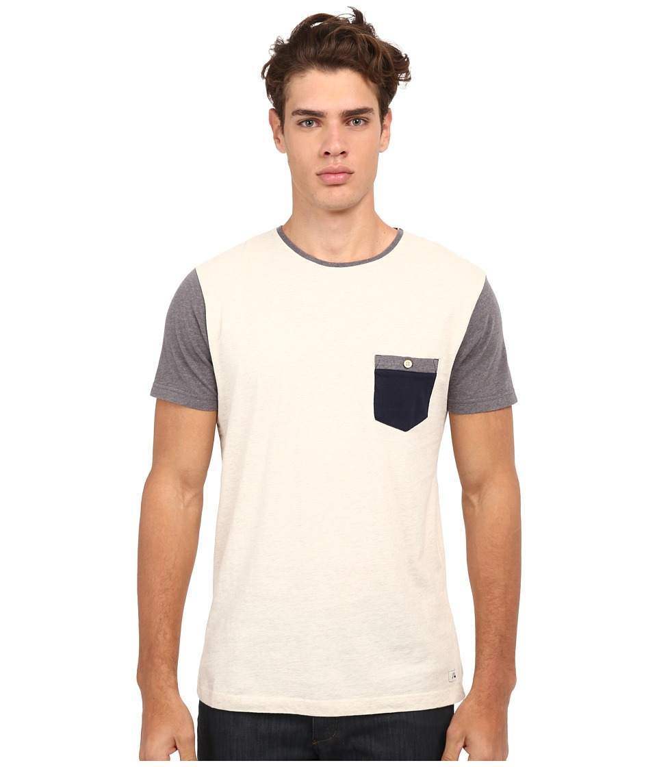 Quiksilver - Bay Sic Knit Top (Snow White Heather) Men's T Shirt