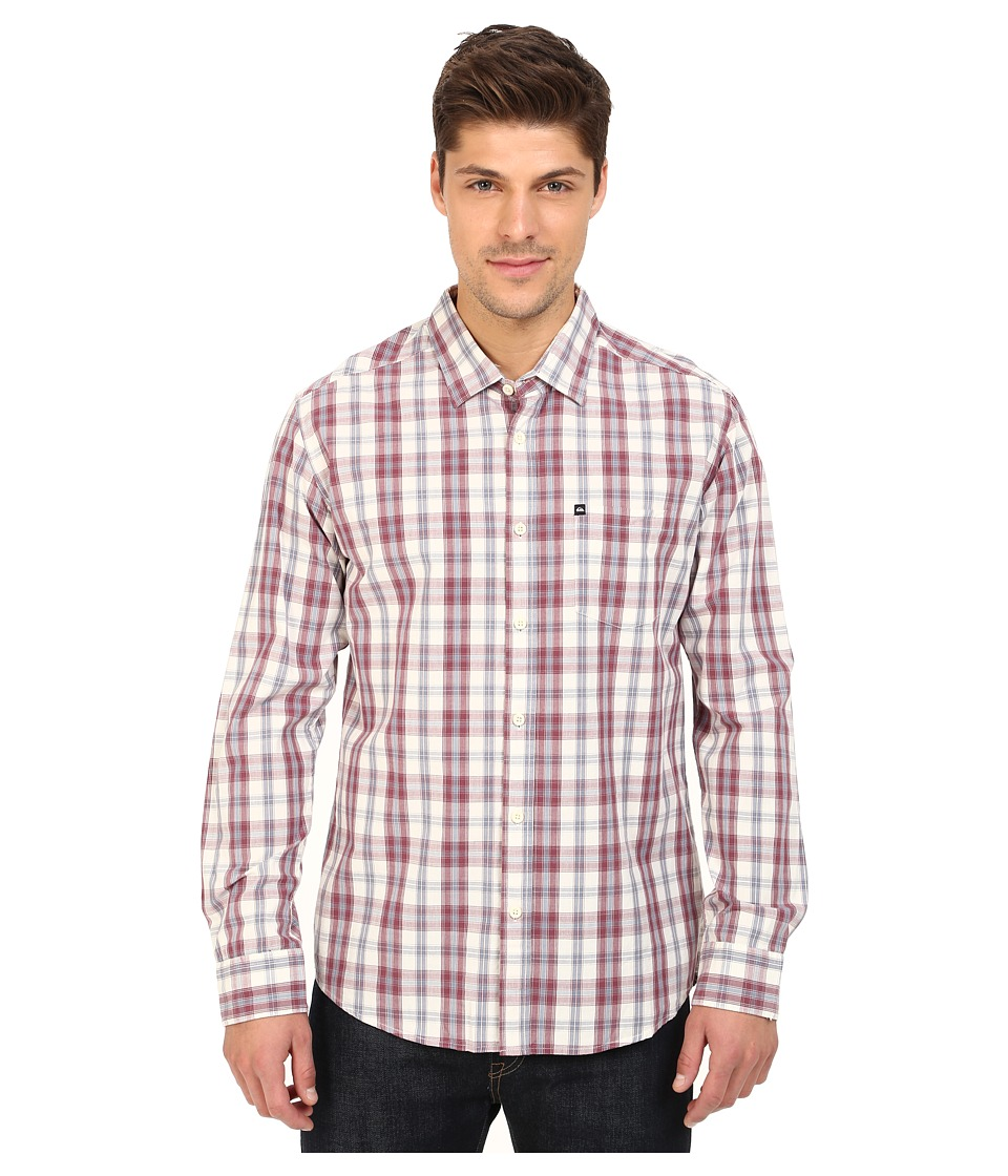 Quiksilver - Everyday Check Long Sleeve (Everyday Check Plum Wine) Men's Clothing