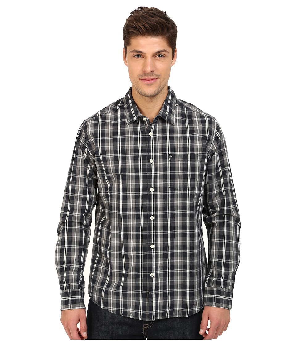 Quiksilver - Everyday Check Long Sleeve (Everyday Check Black) Men's Clothing