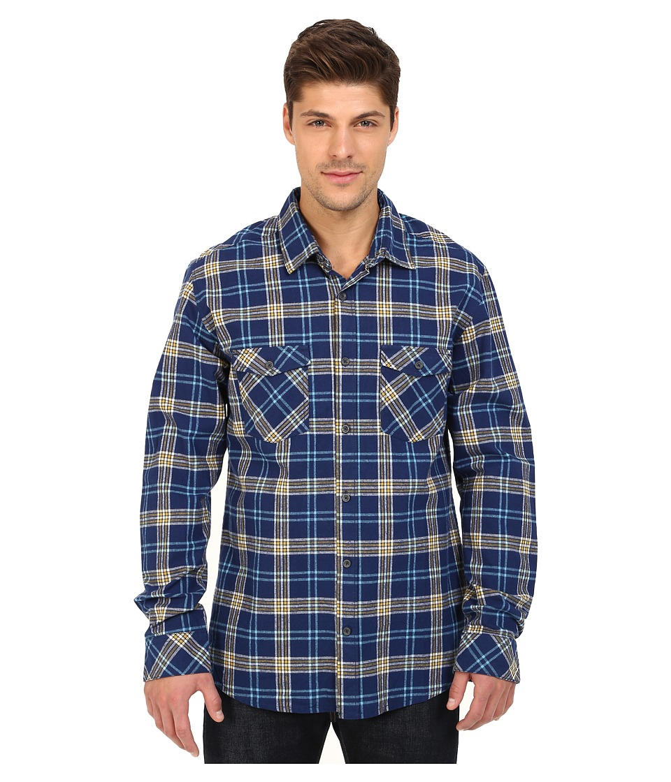 Quiksilver - Everyday Flannel Long Sleeve (Everyday Flannel Medieval Blue) Men's Clothing