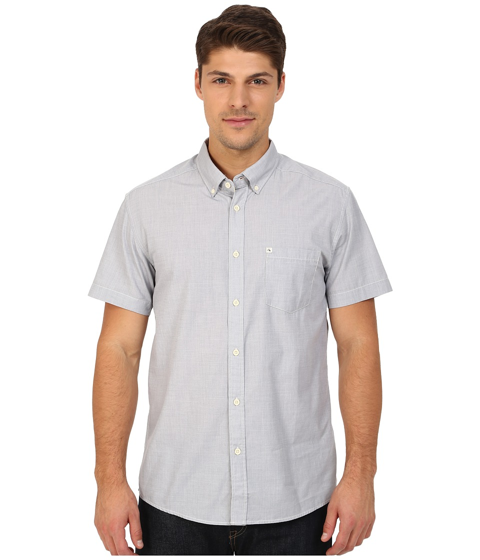 Quiksilver - Wilsden Perennial Short Sleeve (Flint Stone) Men's Short Sleeve Button Up