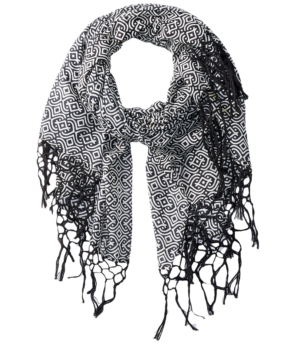 San Diego Hat Company - BSS1640 Lightweight Scarf with All Over Print and Edge Tassels (Multi) Scarves