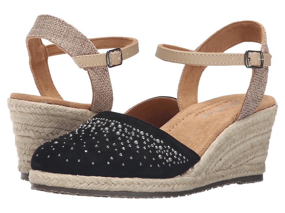 SKECHERS - Cali Monarchs - Velvet Glove (Black) Women's Wedge Shoes