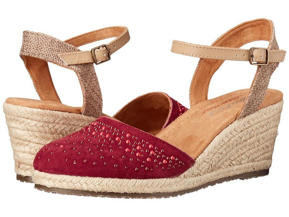 SKECHERS - Cali Monarchs - Velvet Glove (Wine) Women's Wedge Shoes