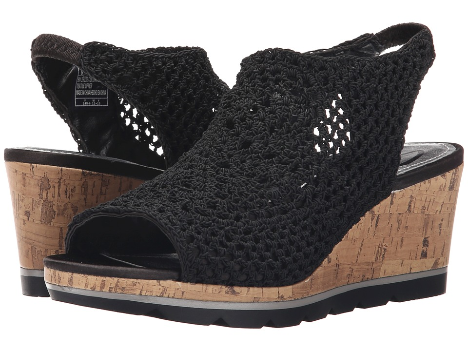 SKECHERS - Cali Vanguard (Black) Women's Wedge Shoes
