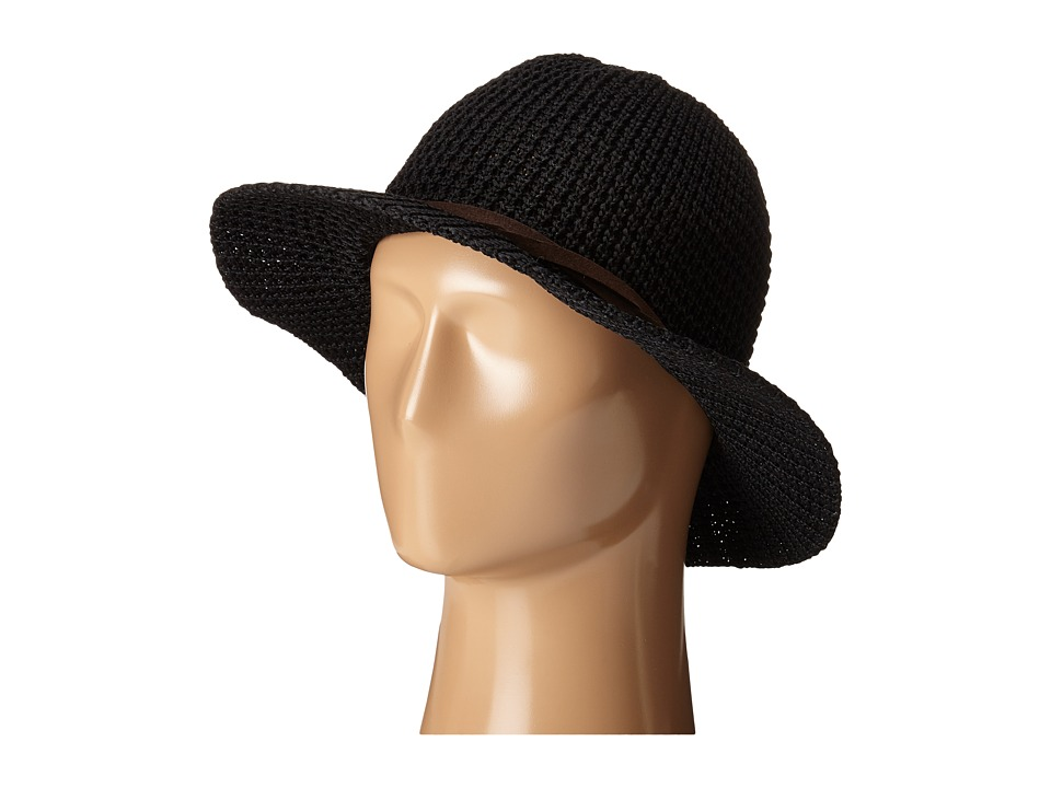 San Diego Hat Company - KNH8009 Knit Fedora with Twisted Faux Suede Band (Black) Fedora Hats