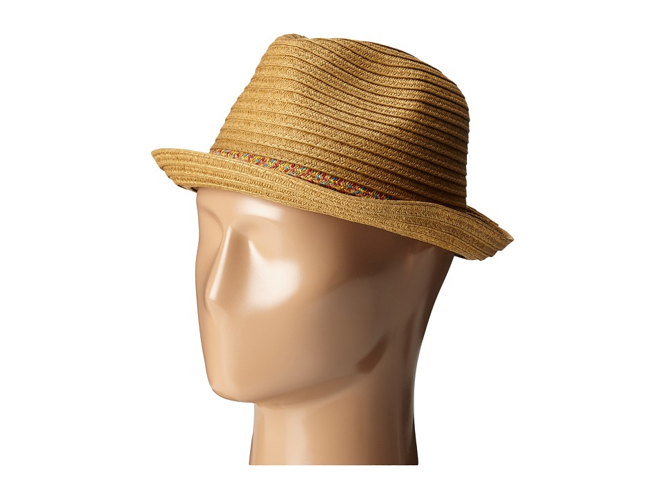 San Diego Hat Company - PBF7301 Fedora with Pop Inset (Natural) Fedora Hats