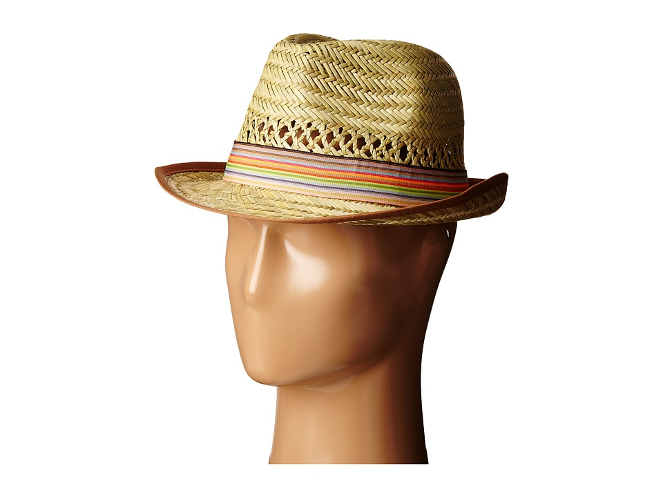 San Diego Hat Company - SGF2013 Seagrass Fedora with Grossgrain Trim (Natural/Multi) Fedora Hats
