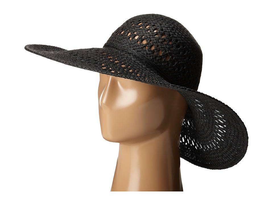 San Diego Hat Company - PBL3068 Open Weave Floppy Hat with Self Tie (Black) Caps