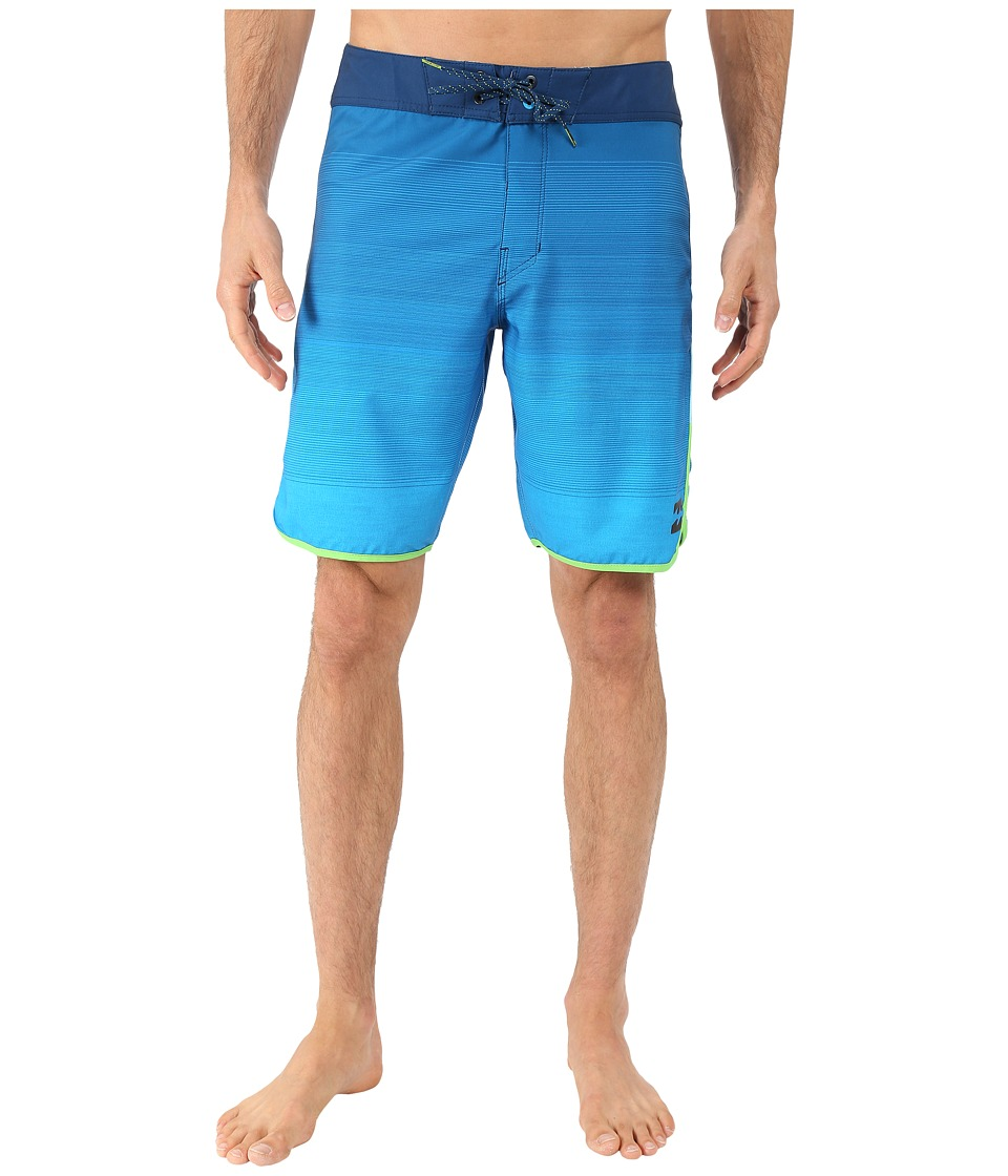 Billabong - Tribong Scallop 19 Boardshorts (Blue) Men's Swimwear