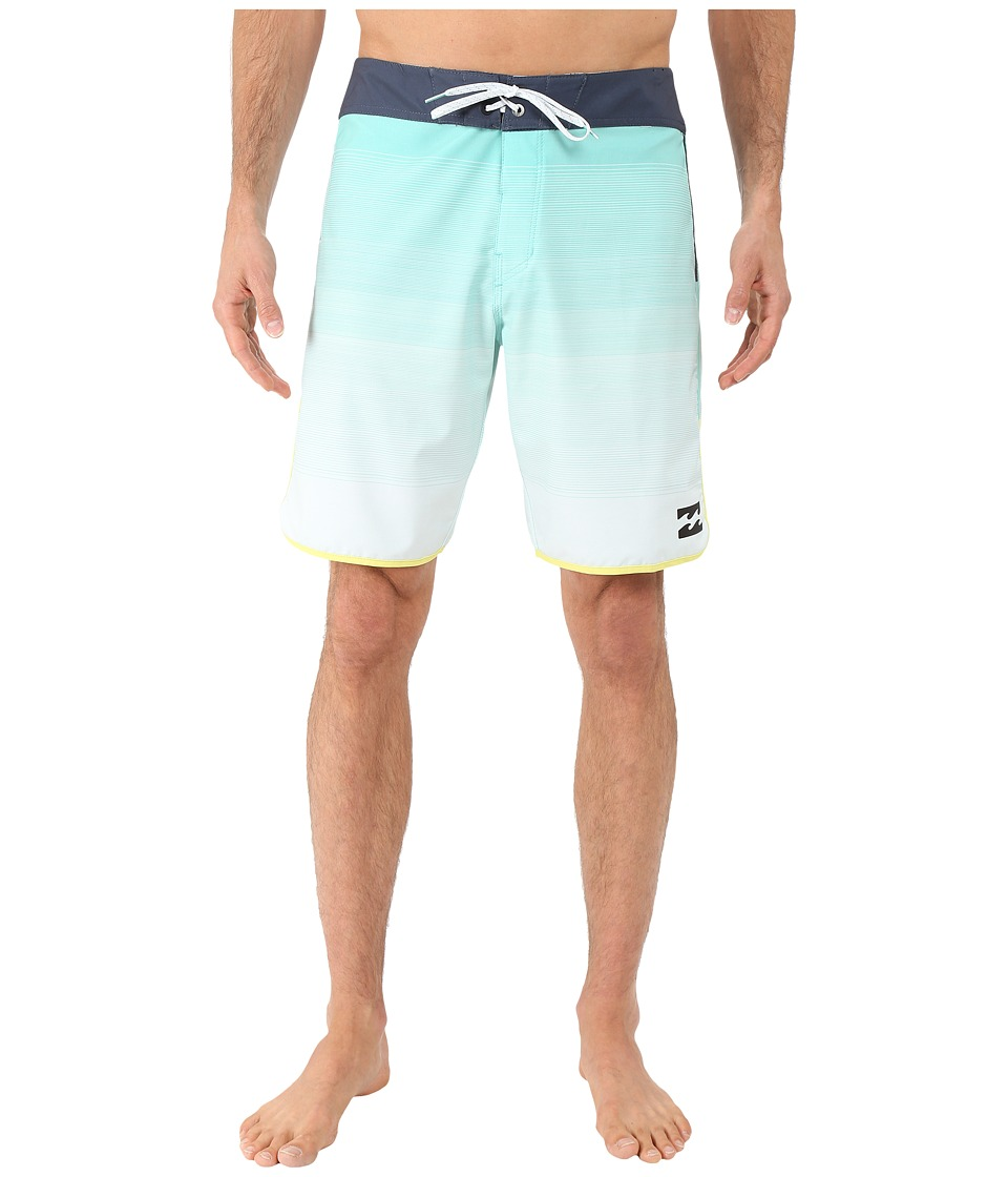 Billabong - Tribong Scallop 19 Boardshorts (Mint) Men's Swimwear