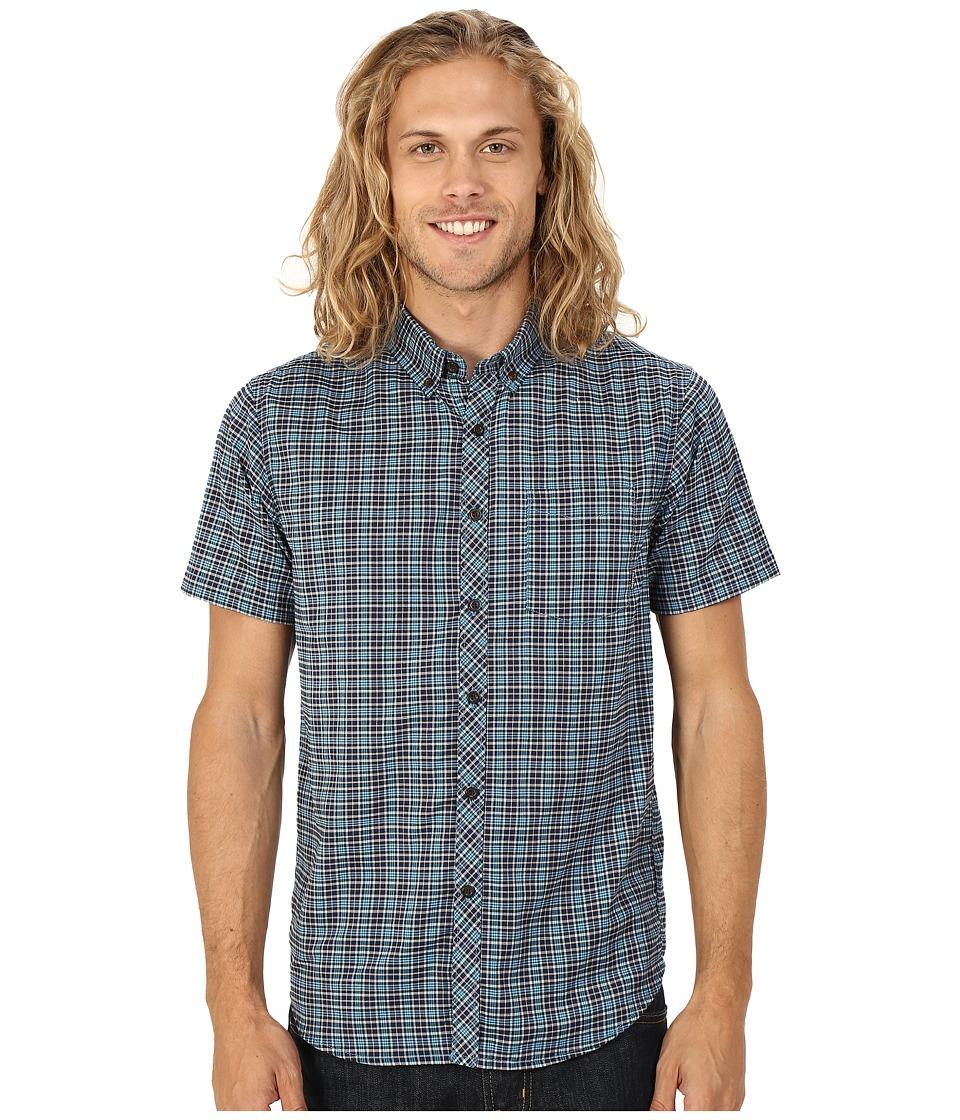Billabong - Patterson Short Sleeve Woven (Indigo) Men's Clothing