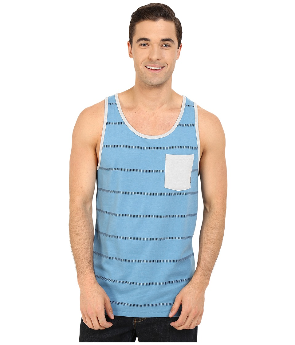 Billabong - Zenith Printed Tank Top (Blue Heather) Men's Sleeveless