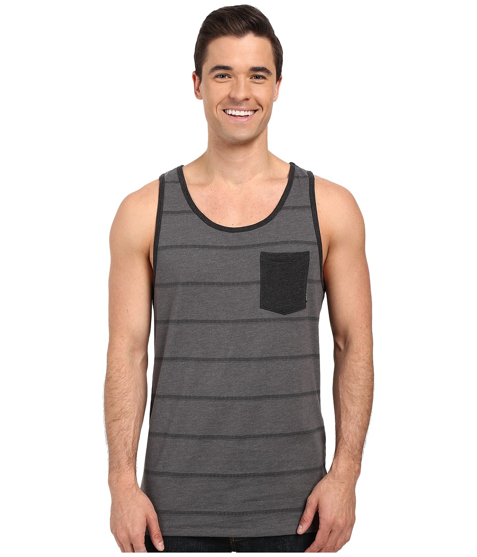 Billabong - Zenith Printed Tank Top (Dark Grey Heather) Men's Sleeveless