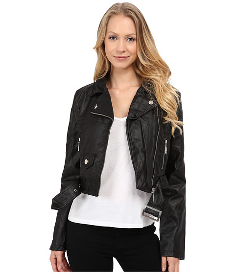 dollhouse - Perfect Fit PU Jacket (Black) Women's Coat