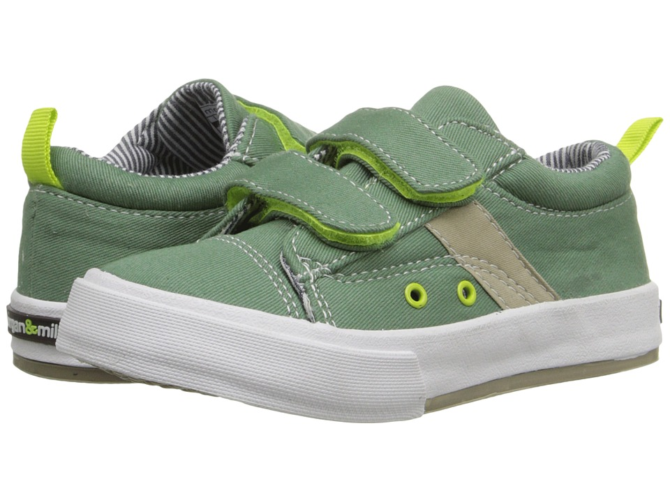 Morgan&Milo Kids - Hudson Double V Canvas (Toddler/Little Kid) (Cargo Green) Boy's Shoes