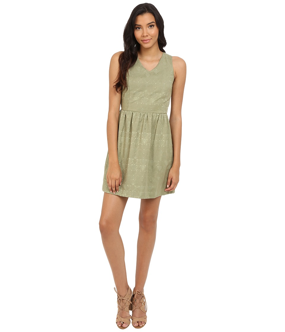 kensie Soft Texture Geo Dress KS4K7930 (Dusty Olive) Women
