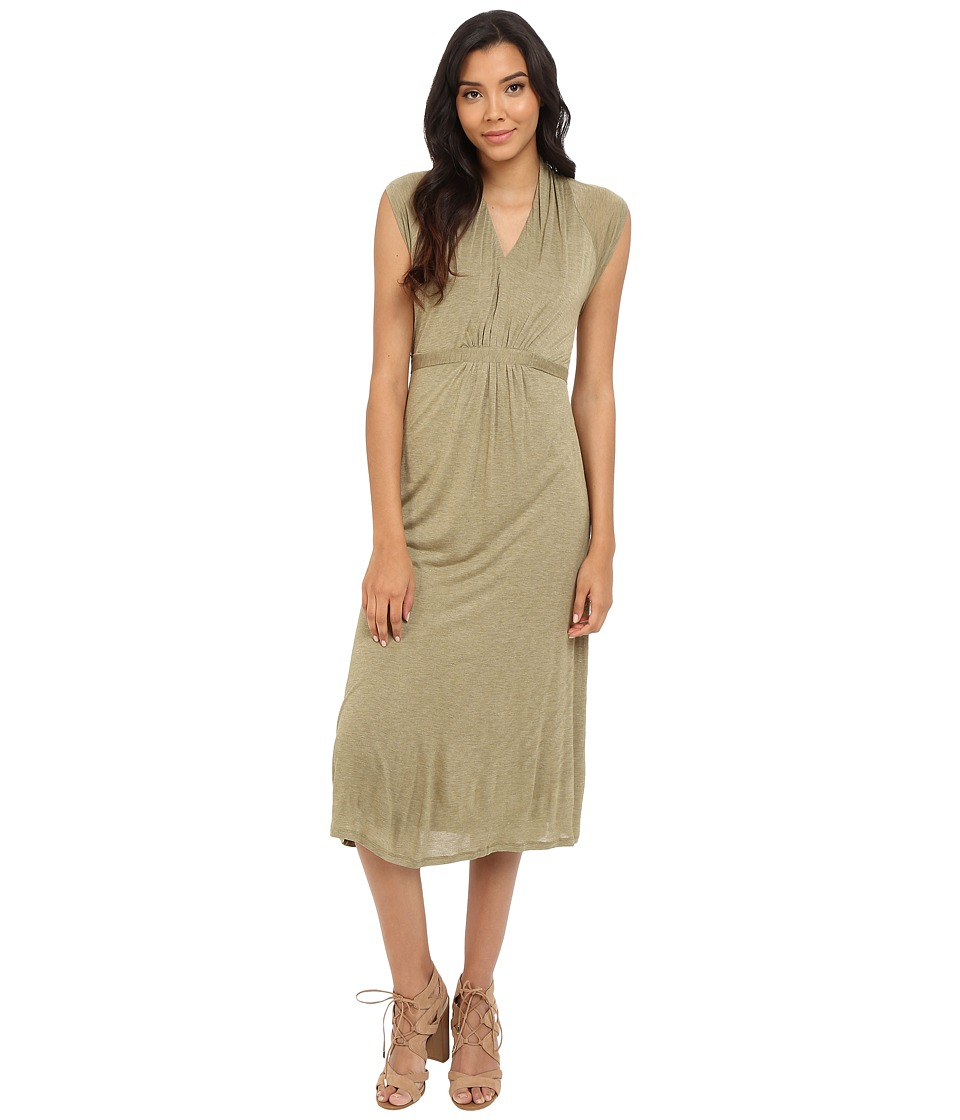 kensie Sheer Viscose Tees Dress KS4K7932 (Heather Dusty Olive) Women