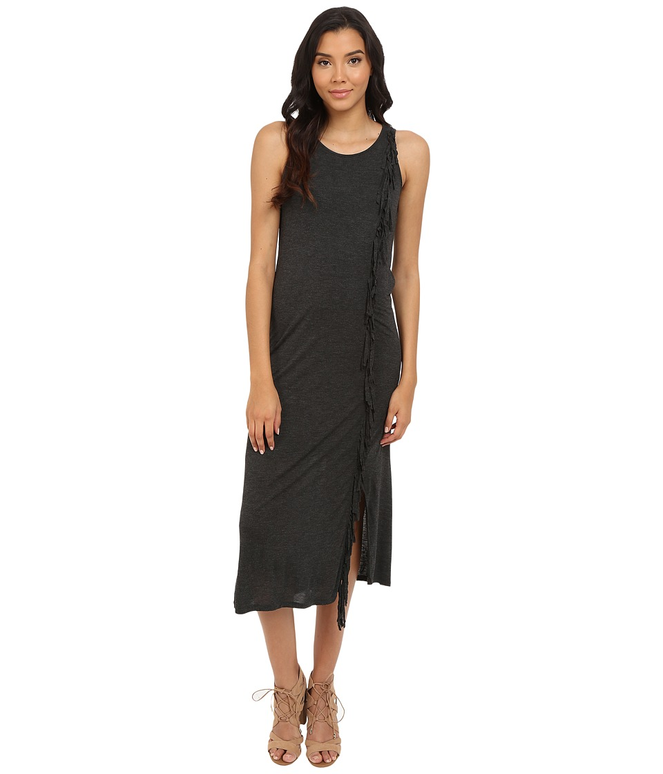 kensie Sheer Viscose Maxi Dress KS4K7074 (Heather Charcoal) Women