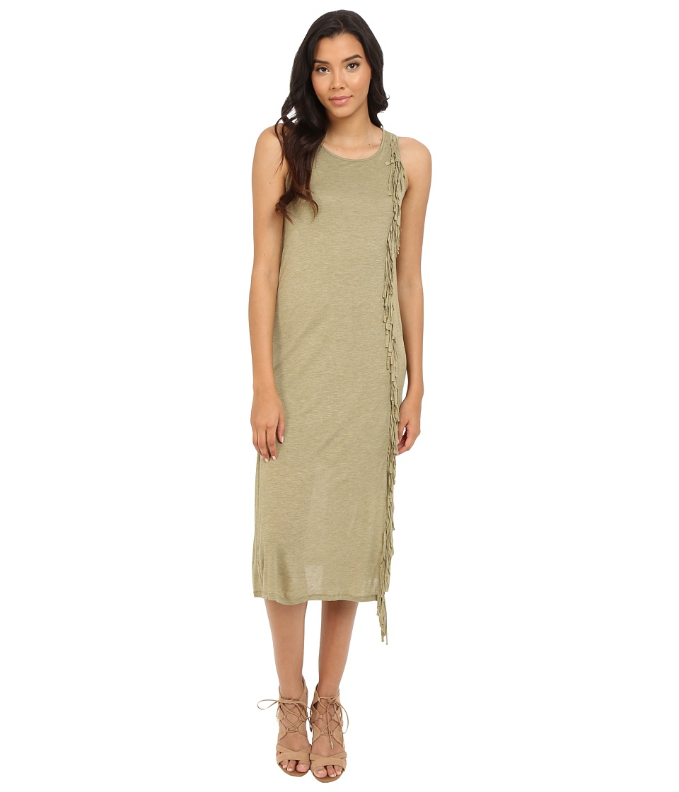 kensie Sheer Viscose Maxi Dress KS4K7074 (Heather Dusty Olive) Women