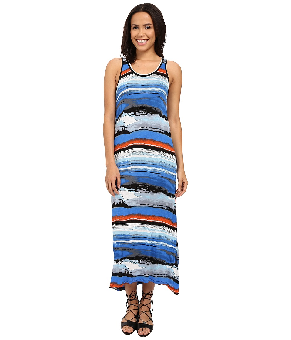 kensie Watercolor Maxi Dress KS4K7162 (Bright Cobalt Combo) Women