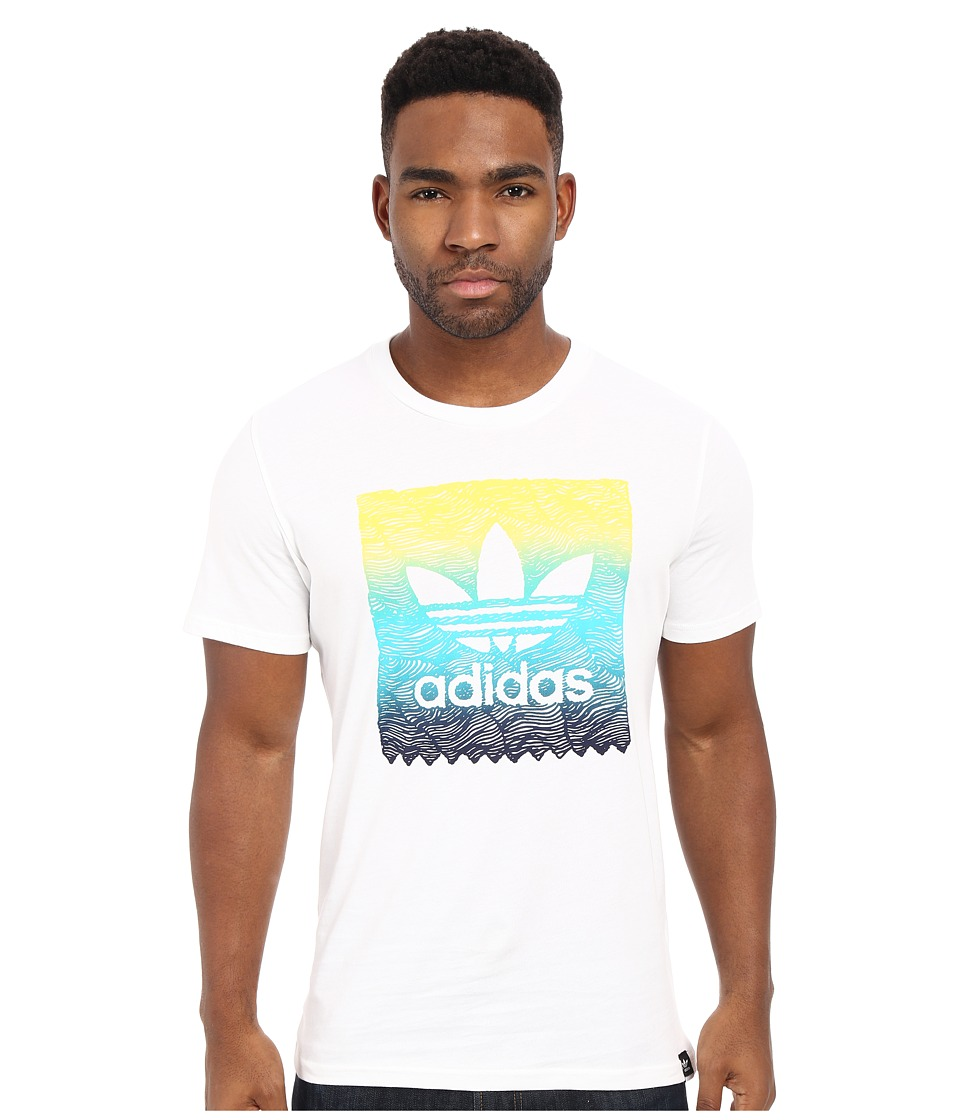 adidas Skateboarding - Scratch Grade Blackbird Tee (White) Men
