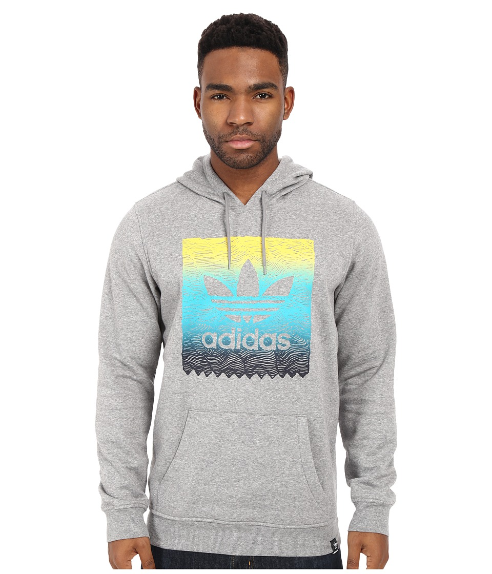 adidas Skateboarding - Scratch Grade Blackbird Pullover Hoodie (Core Heather) Men's Sweatshirt