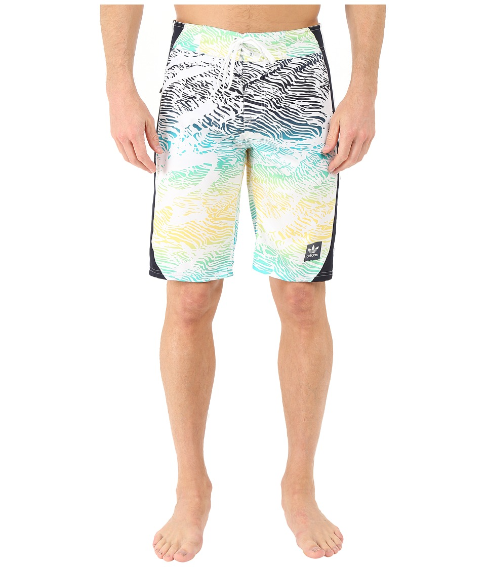 adidas Skateboarding - Scratch Grade Boardshorts (White/Legend Ink/Spring Yellow/Shock Green) Men's Swimwear