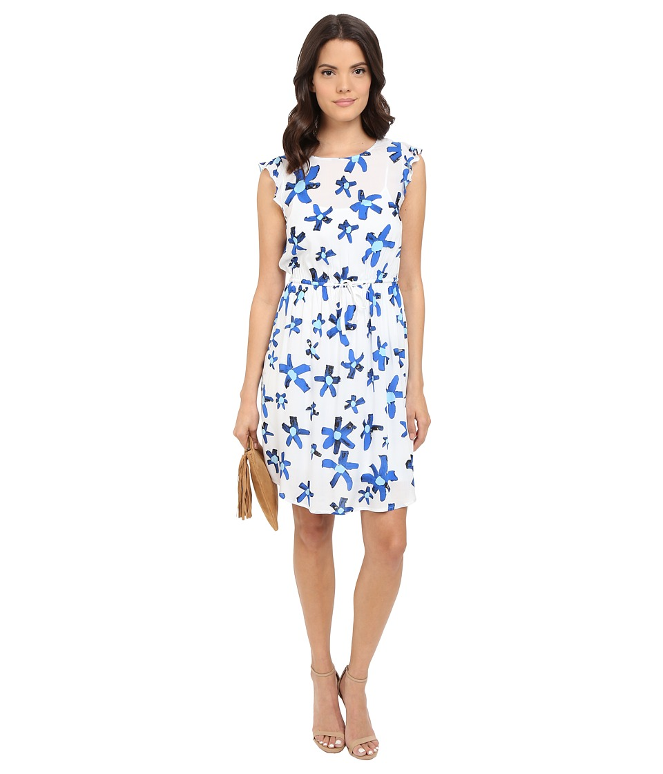 kensie Painted Daisy Dress KS4K7926 (Bright Cobalt Combo) Women