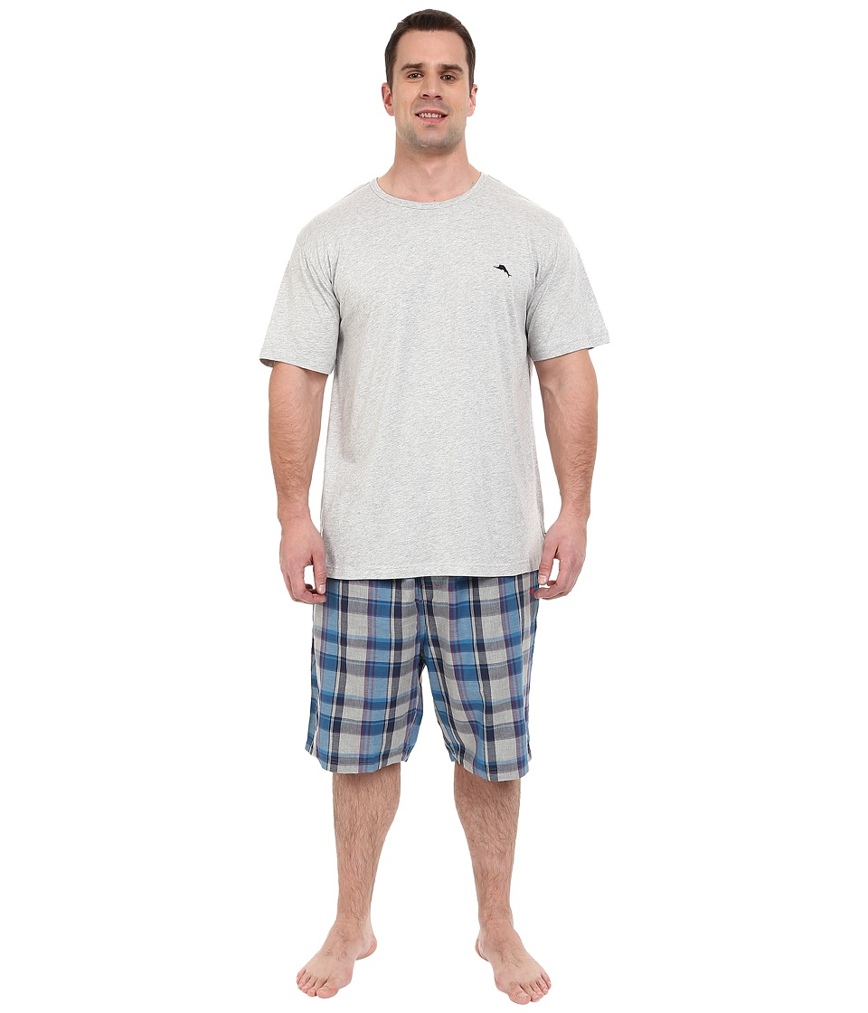Tommy Bahama - Big Tall Big Jam Pajama Set (Grey Heather) Men's Pajama Sets