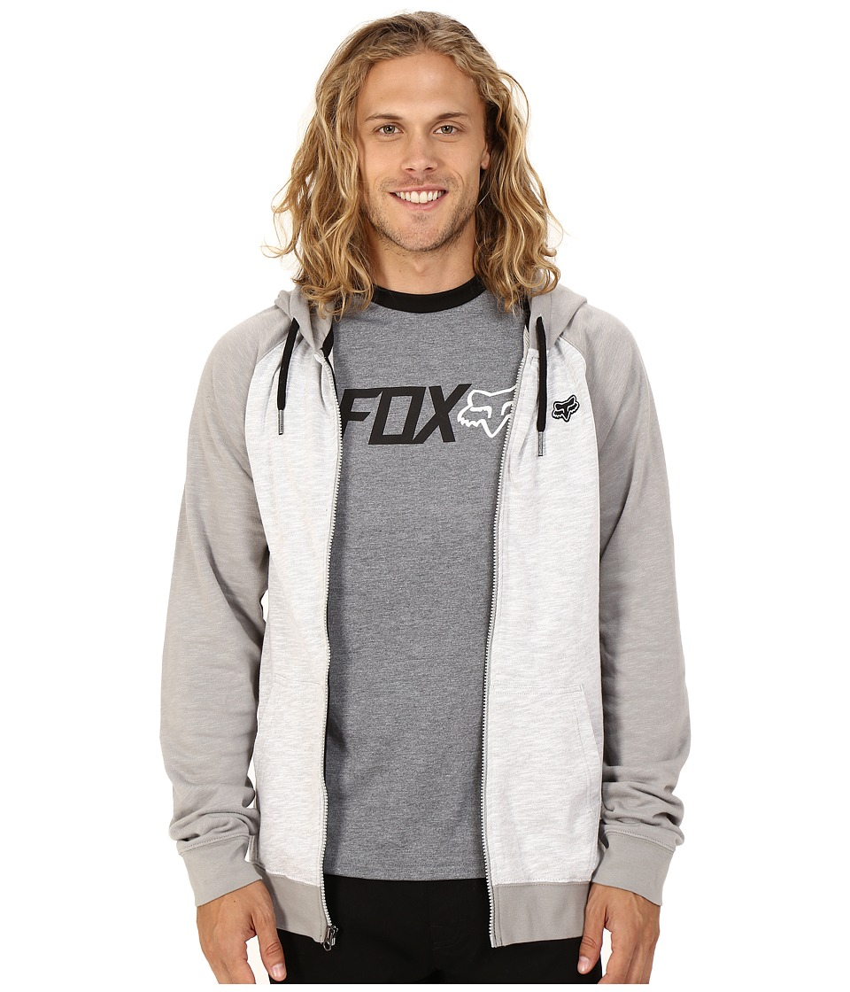 Fox - Intercept Zip Fleece (Grey) Men's Long Sleeve Pullover