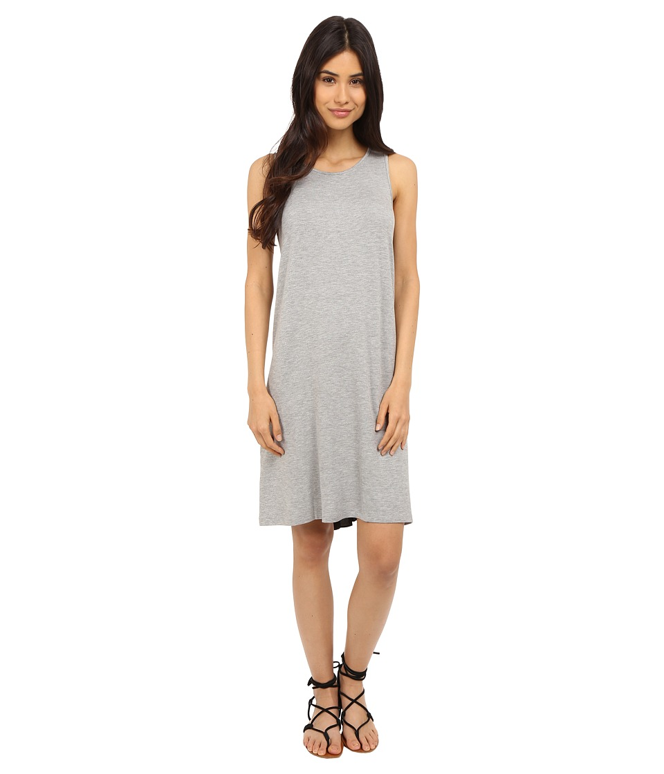 kensie Drapey French Terry Dress KS5K7945 (Heather Grey Combo) Women