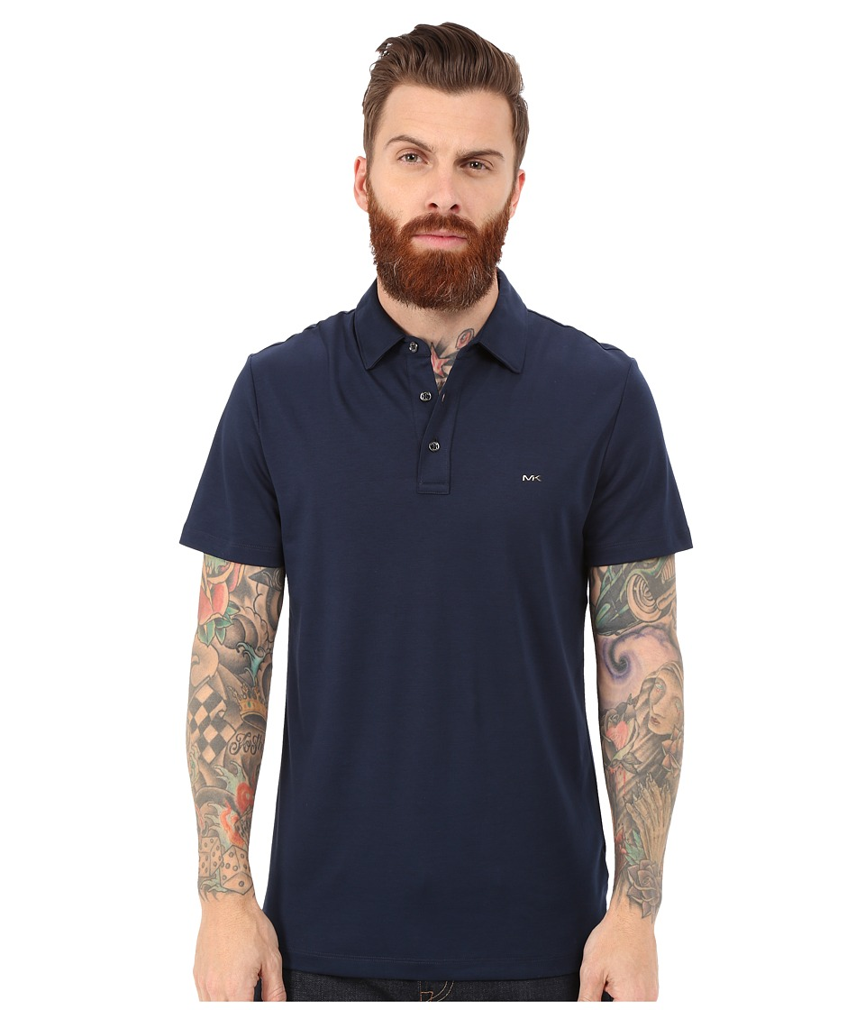 Michael Kors - Sleek Polo Top (Midnight) Men's Short Sleeve Pullover