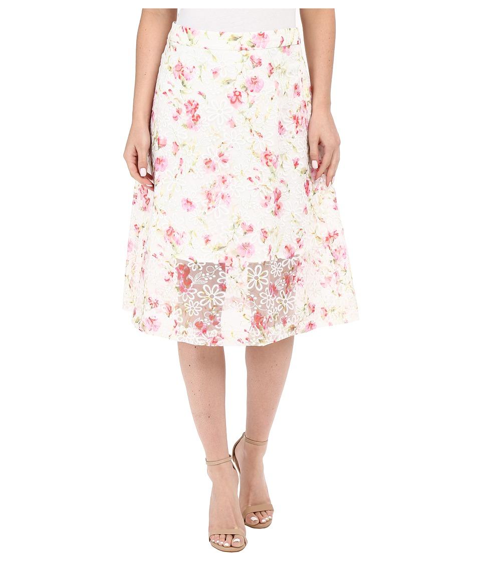 kensie - Floral Organza Skirt KS5K6224 (Candy Apple Combo) Women's Skirt