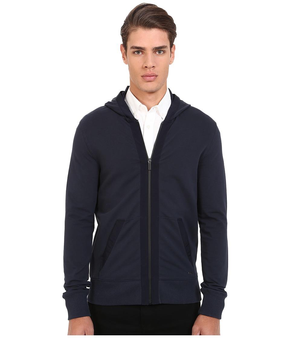 Michael Kors - Nylon Trim Hoodie (Midnight) Men's Sweatshirt