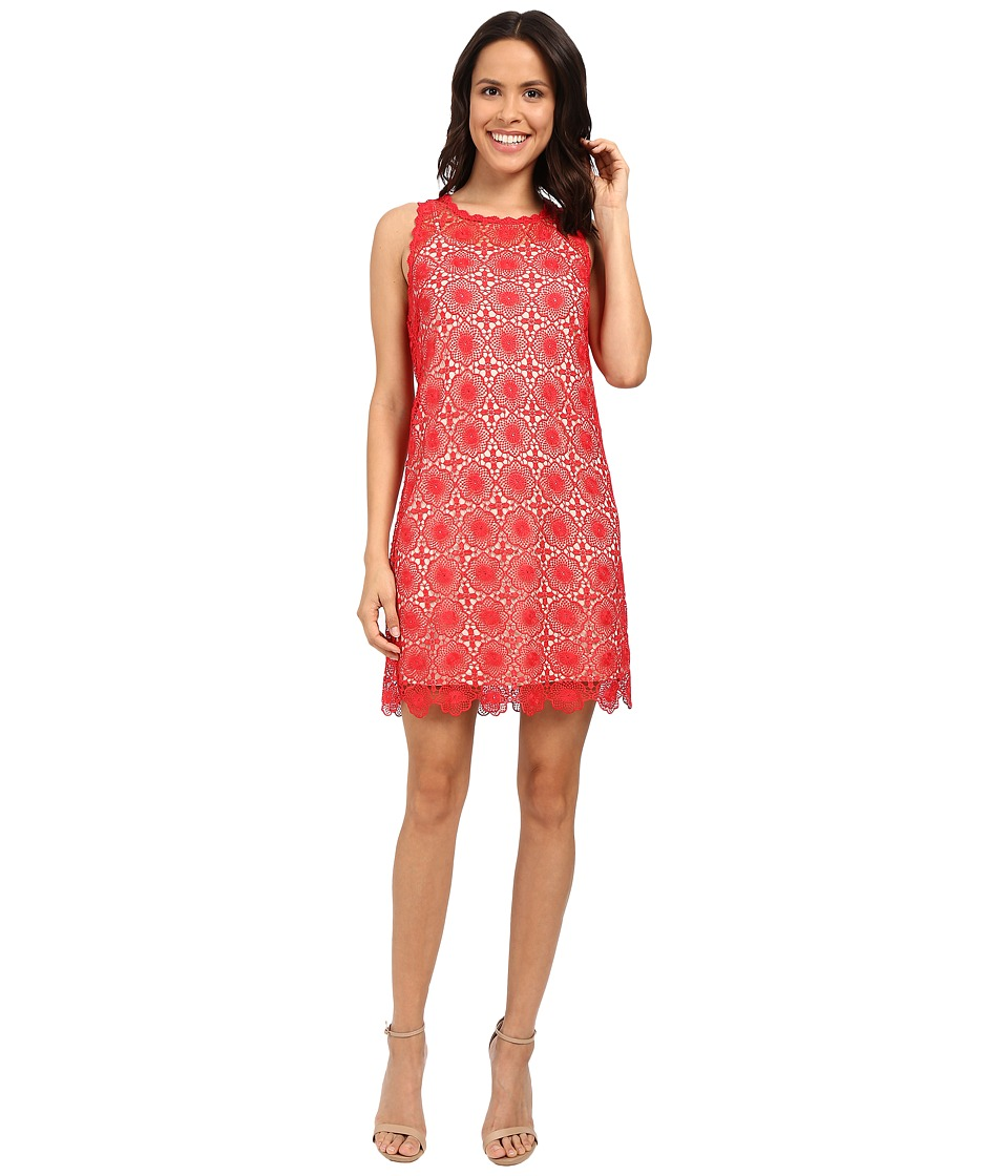 kensie Open Floral Lace Dress KS5K7939 (Candy Apple Combo) Women