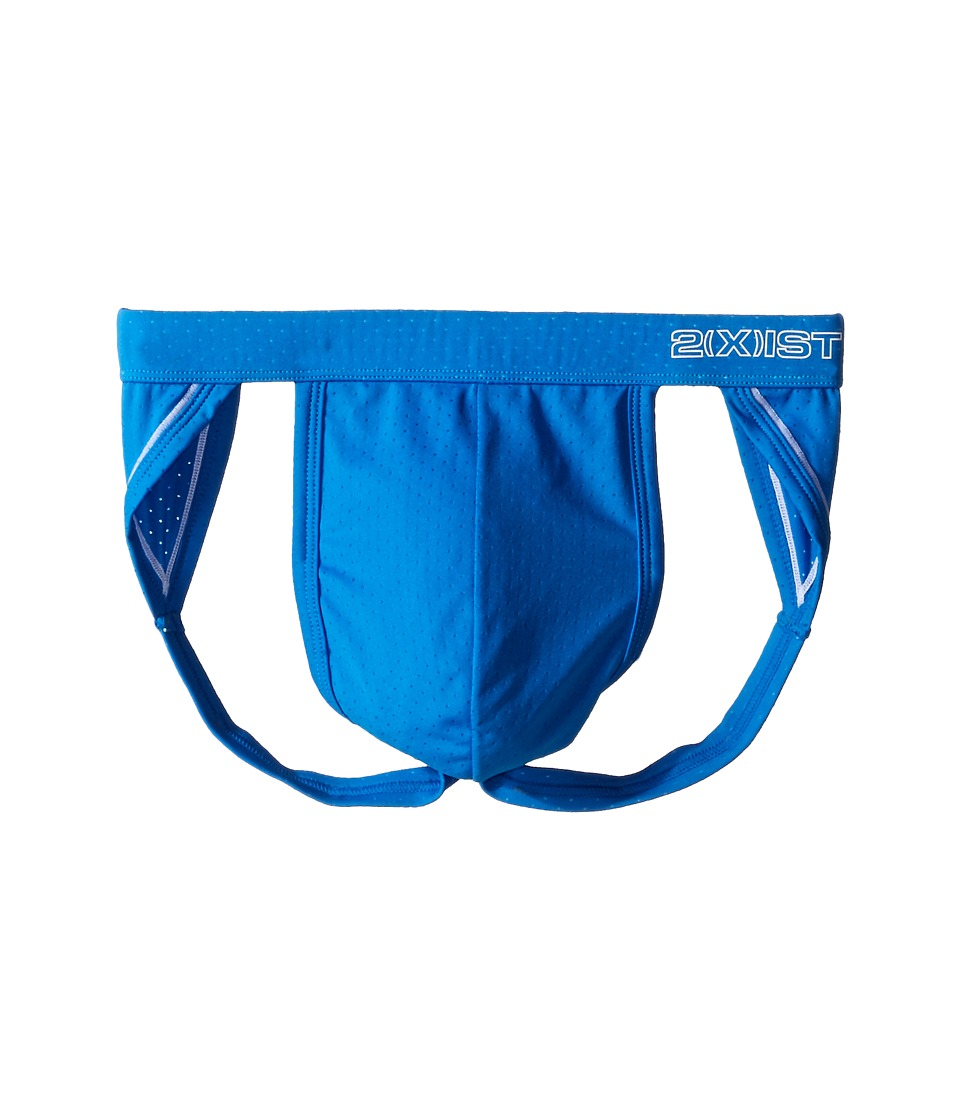 2(X)IST - Cross Trainer Jock Strap (Pro Blue) Men's Underwear