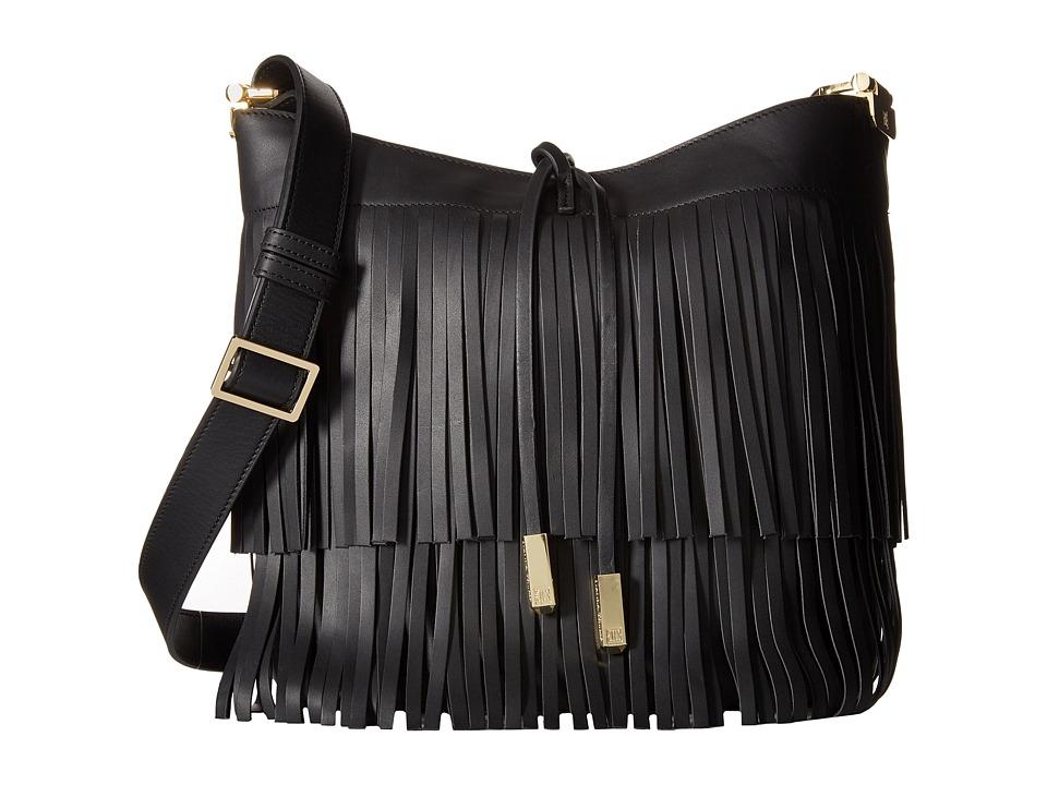 Ivanka Trump - Briarcliff Bucket Fringe (Black) Cross Body Handbags